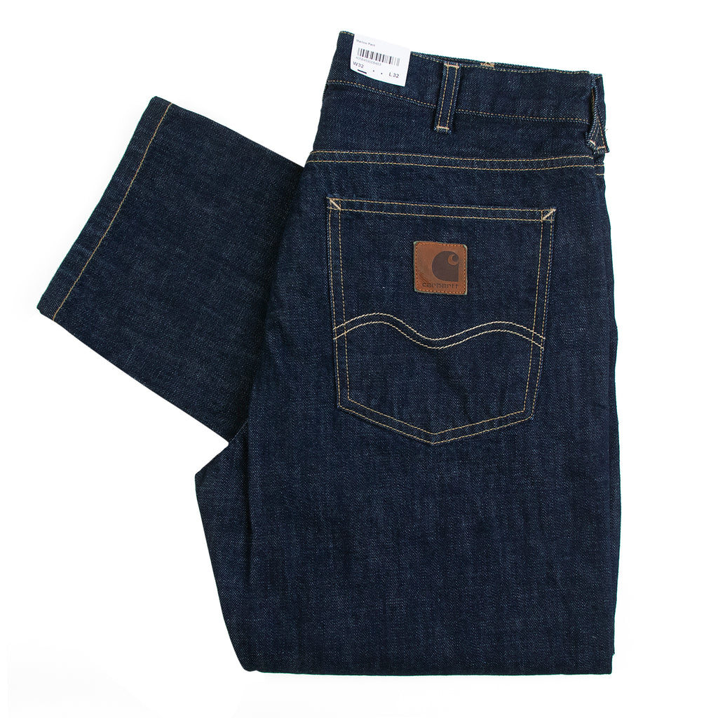 Carhartt WIP Marlow Pant in Blue Denim Rinsed