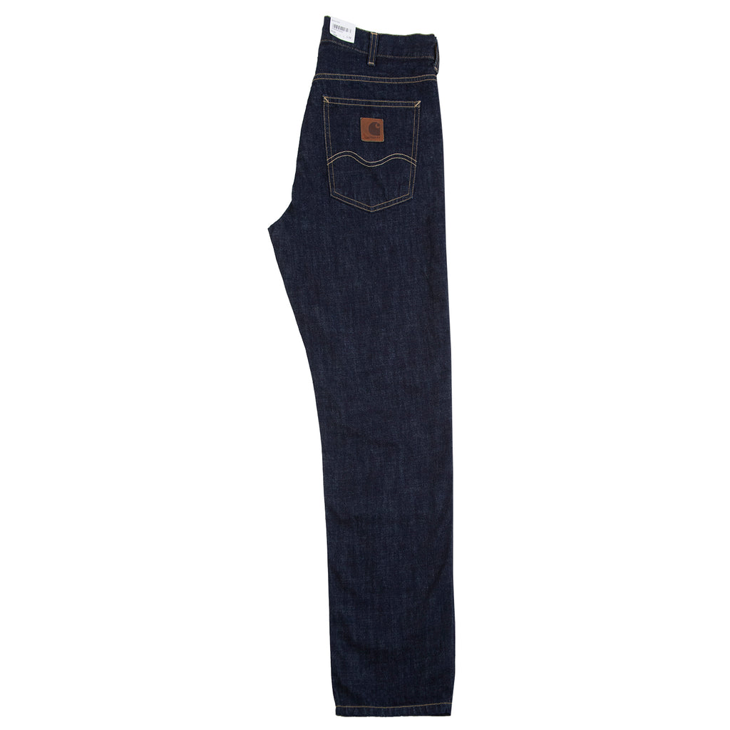 Carhartt WIP Marlow Pant in Blue Denim Rinsed - Leg