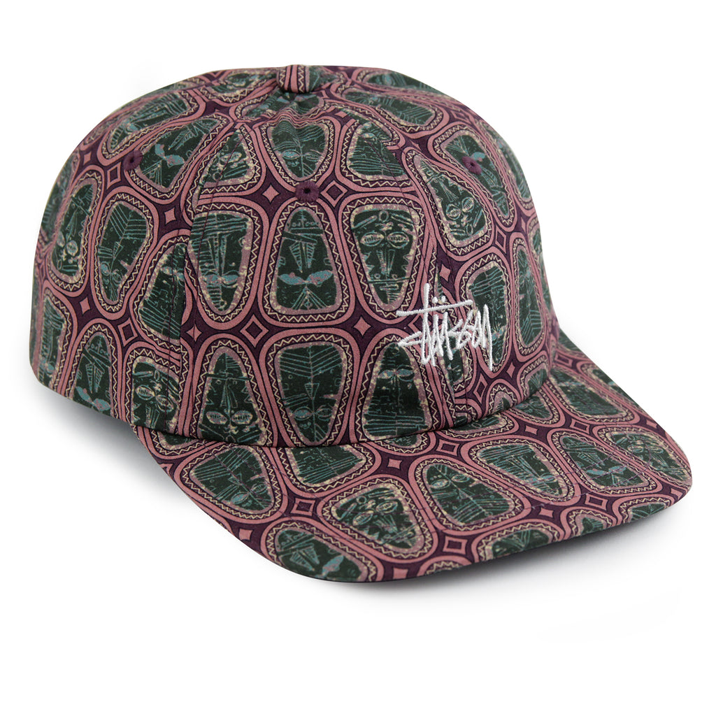 Stussy Mask Pattern Low Pro Cap in Pink