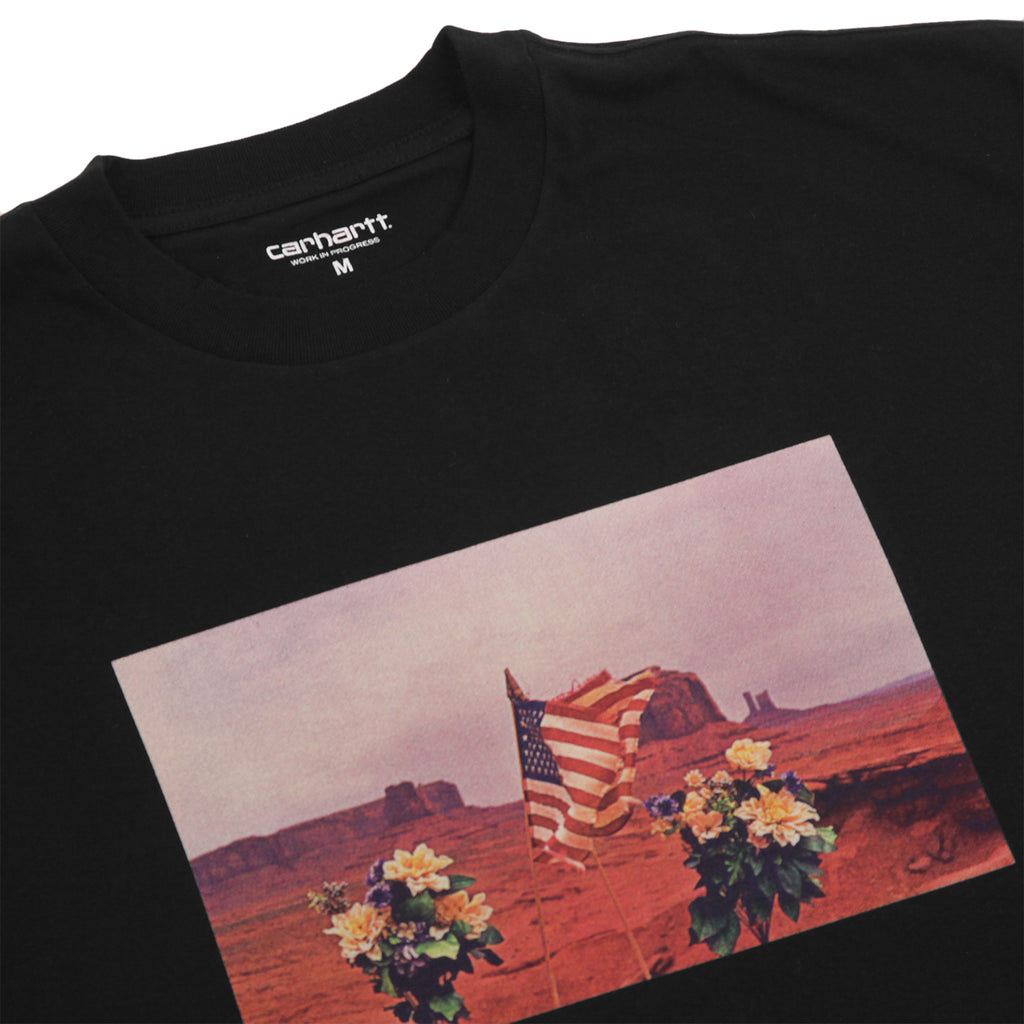 Carhartt WIP Matt Martin Flags T Shirt in Black - Detail