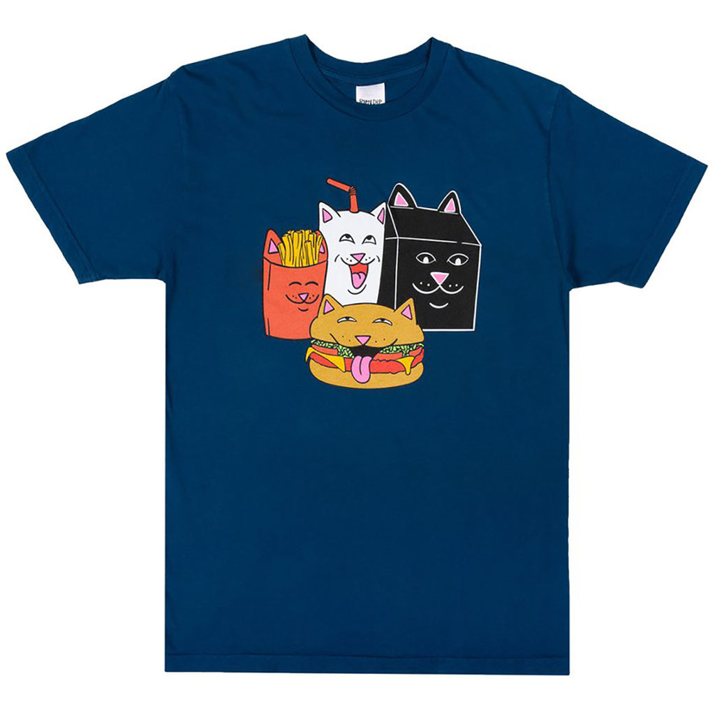 RIPNDIP McNerm T Shirt in Harbour Blue