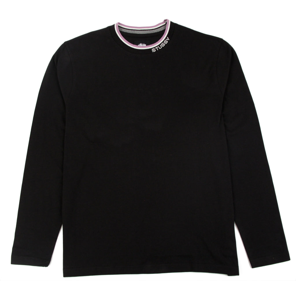 Stussy Michael L/S Crew in Black