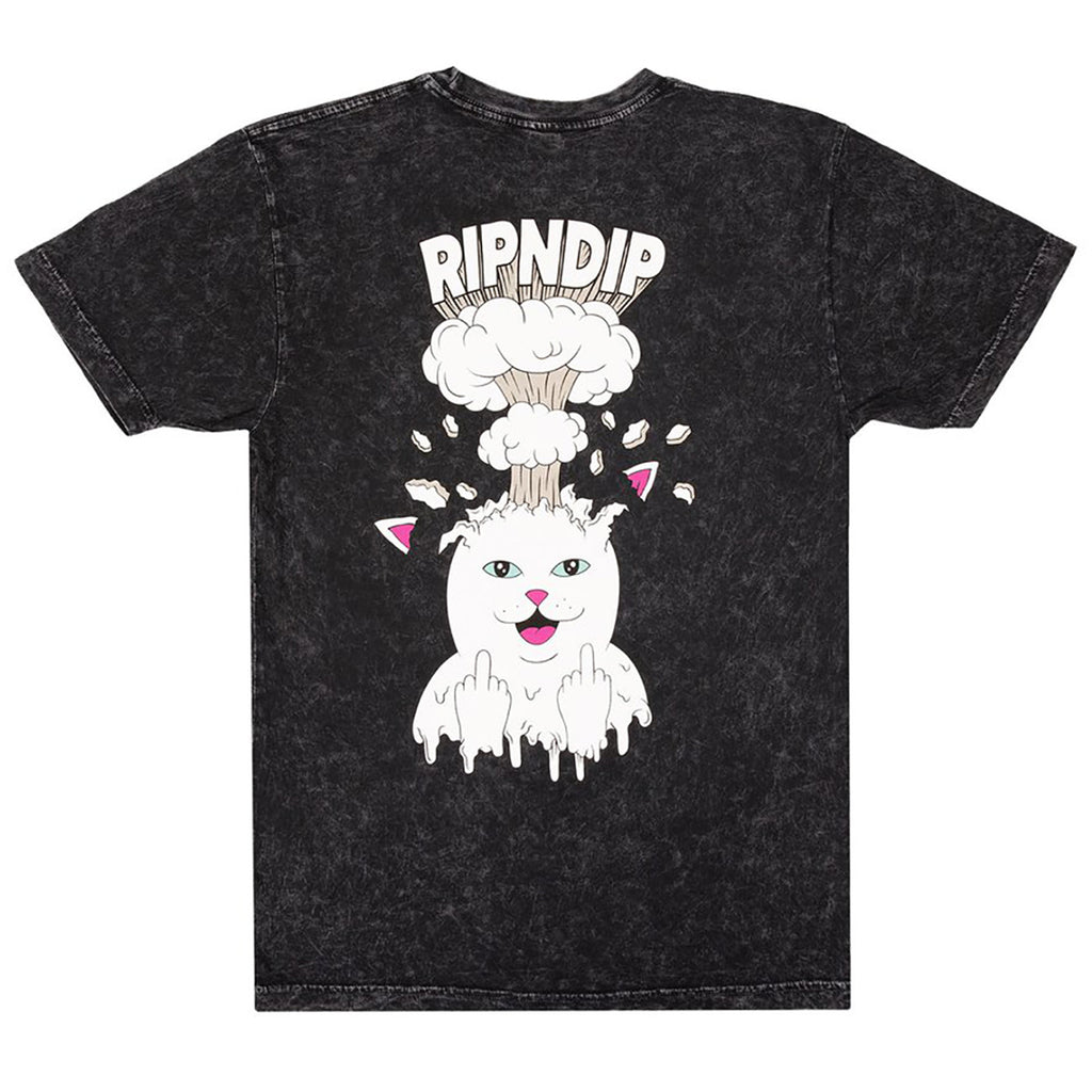RIPNDIP Mind Blown T Shirt in Black Mineral Wash