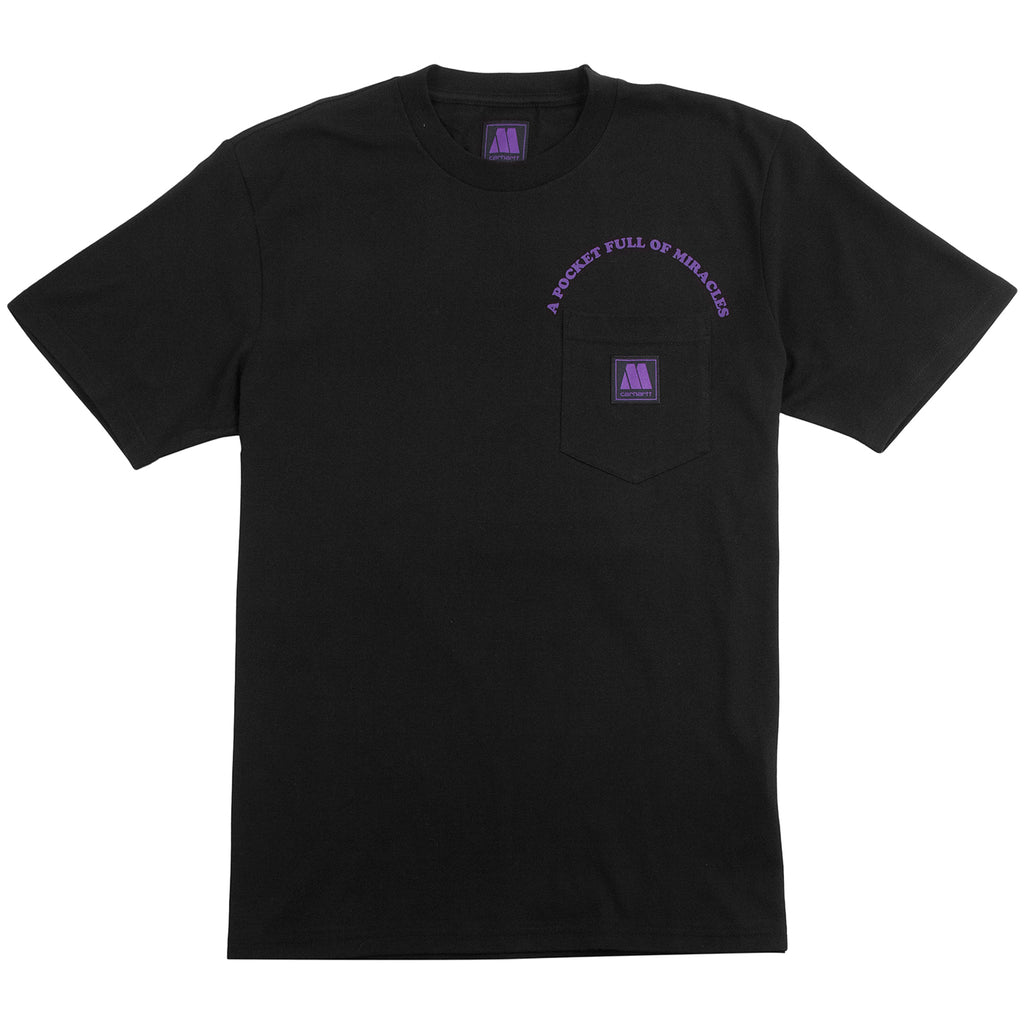 Carhartt WIP x Motown Pocket T Shirt in Black / Prism Violet