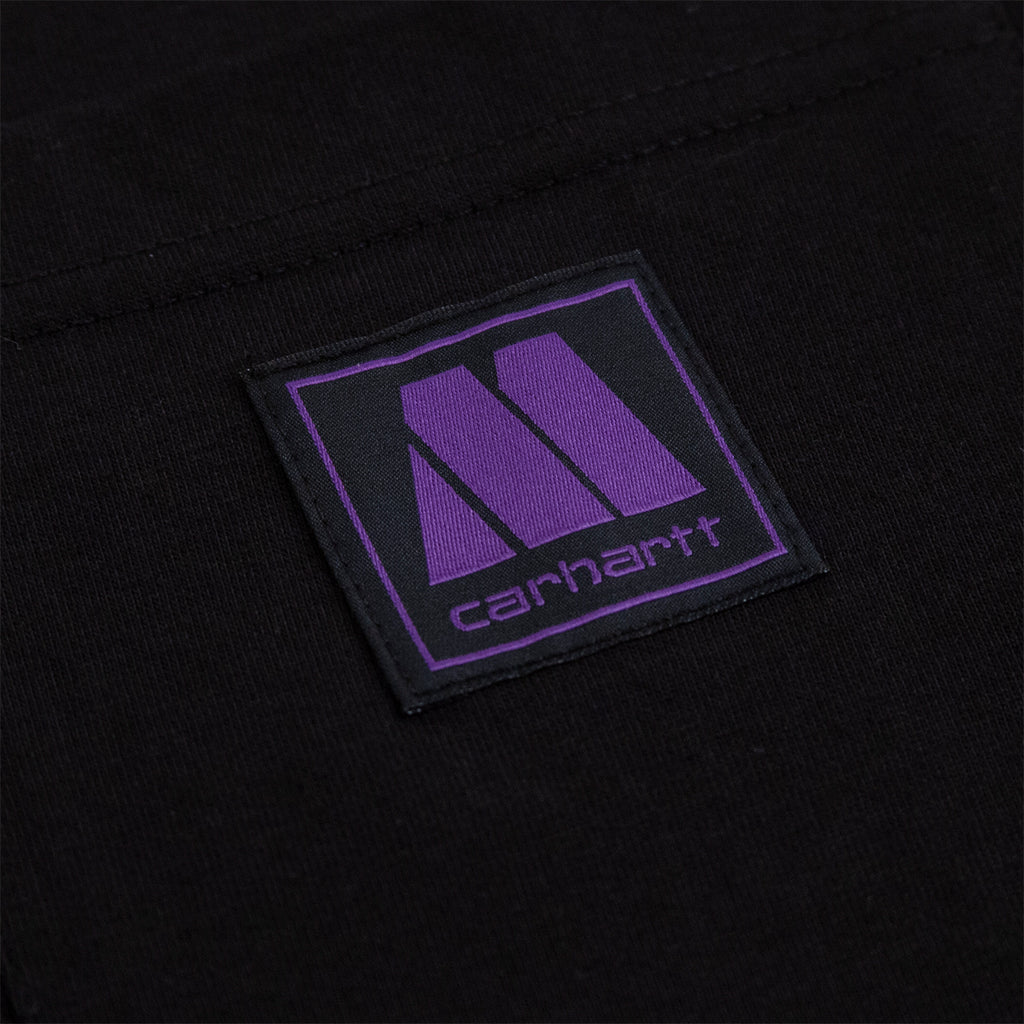 Carhartt WIP x Motown Pocket T Shirt in Black / Prism Violet - Label