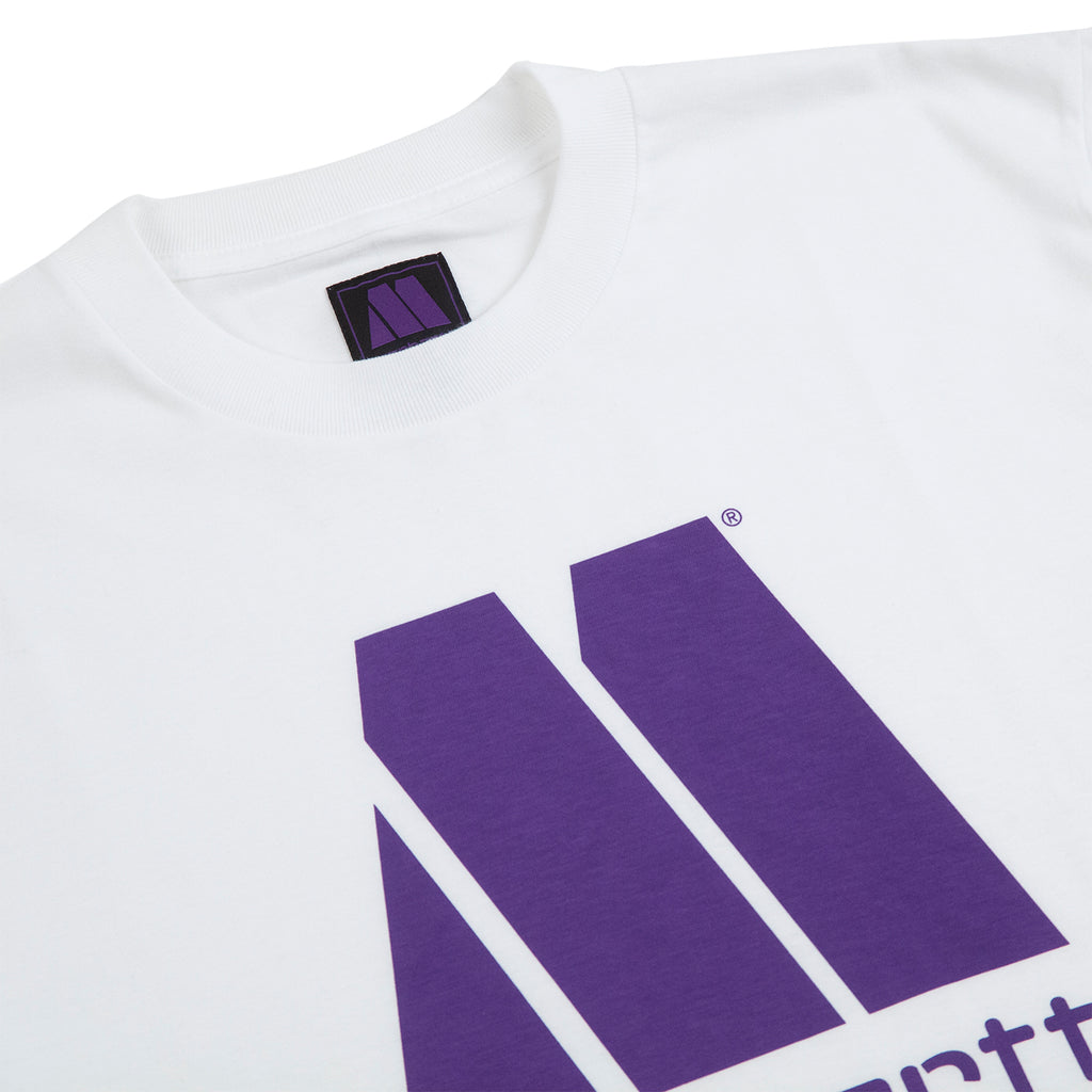 Carhartt WIP x Motown T-S T Shirt in White / Prism Violet - Detail