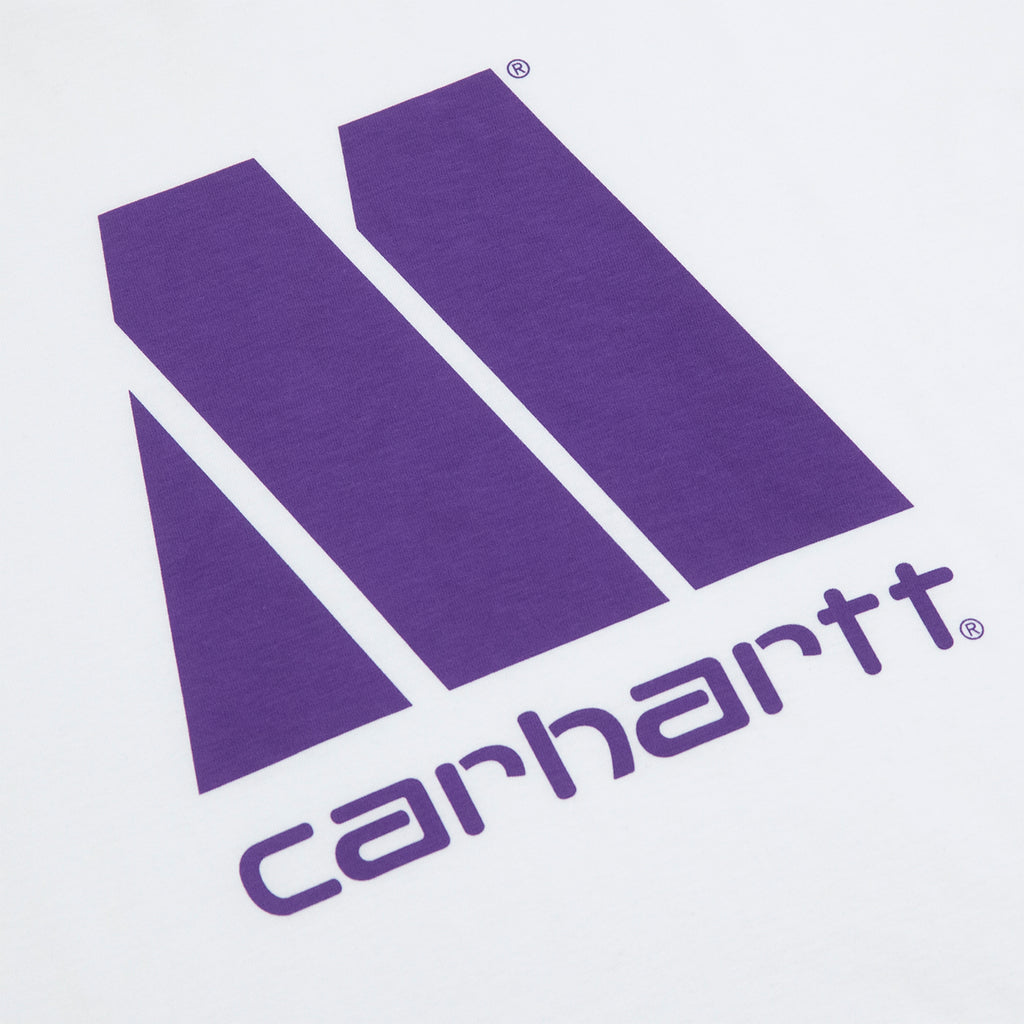 Carhartt WIP x Motown T-S T Shirt in White / Prism Violet - Print