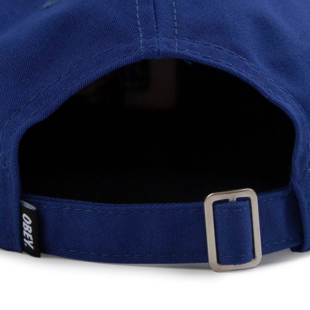 Obey Clothing Munchies 6 Panel Strapback Cap in Blue - Strap