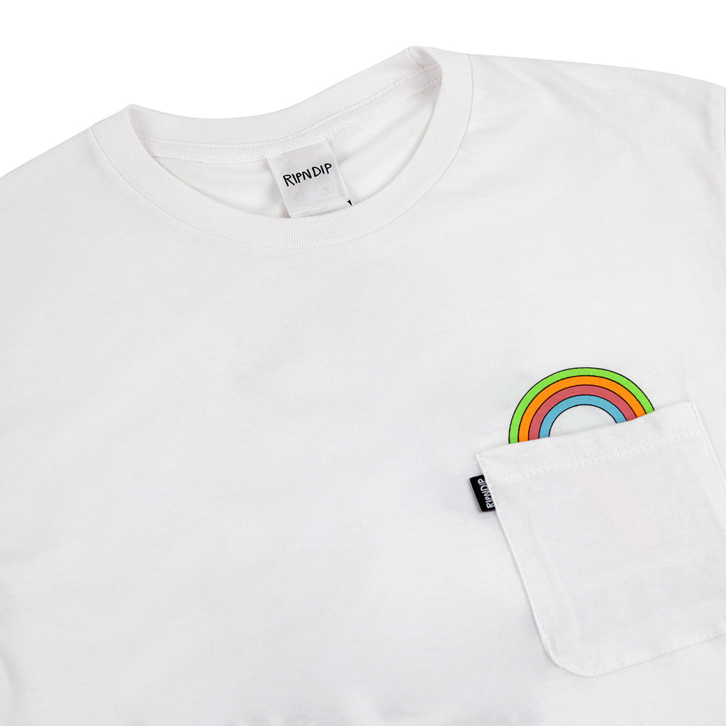 RIPNDIP My Little Nerm T Shirt in White - Detail