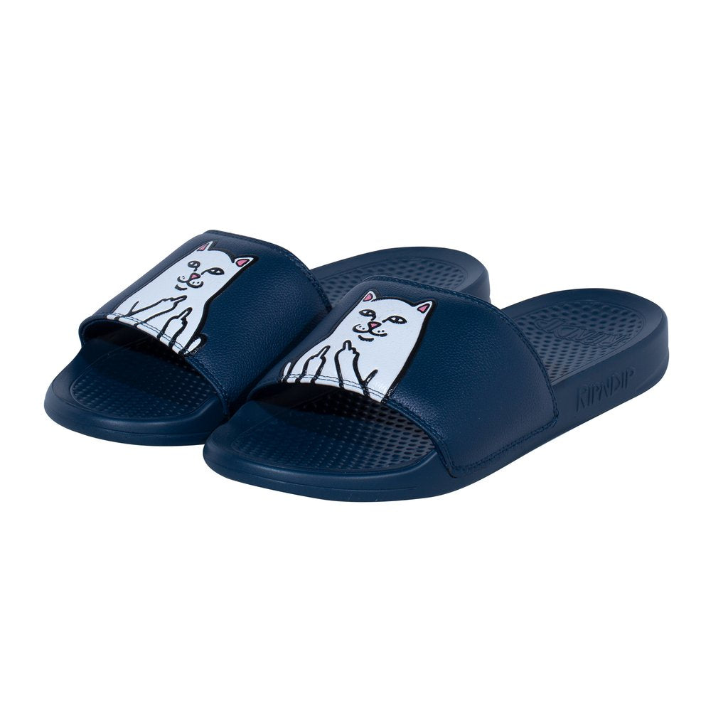 RIPNDIP Lord Nermal Slides in Navy