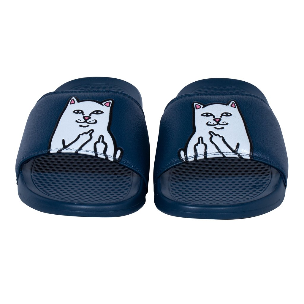 RIPNDIP Lord Nermal Slides in Navy - Front