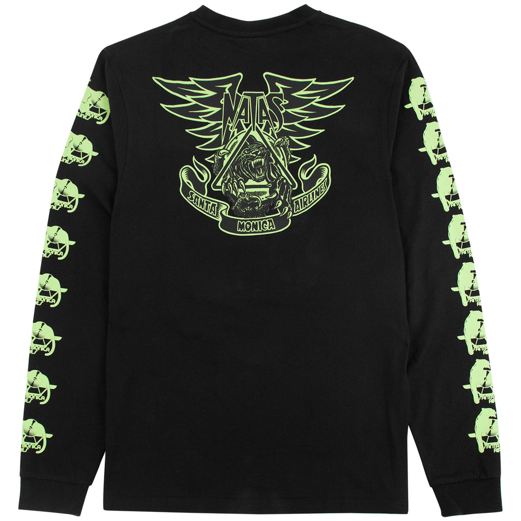 Santa Cruz Natas Panther L/S T Shirt in Black