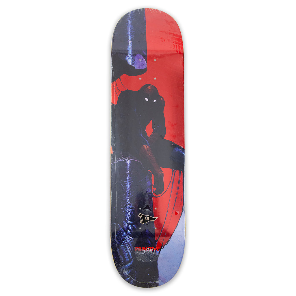 "Primitive Neal Spiderman Skateboard Deck 8"" - Bottom"