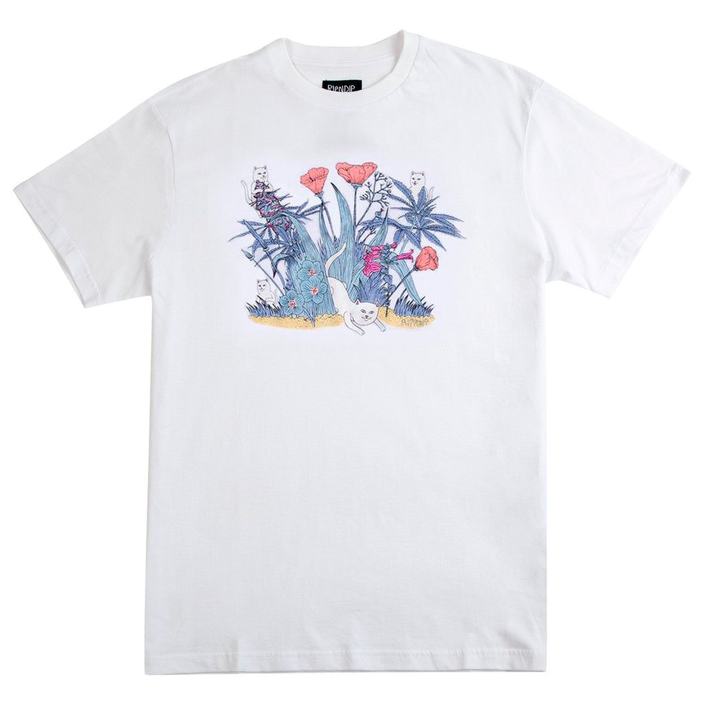 RIPNDIP Nerm Paradise UV Ink T Shirt in White - Colour