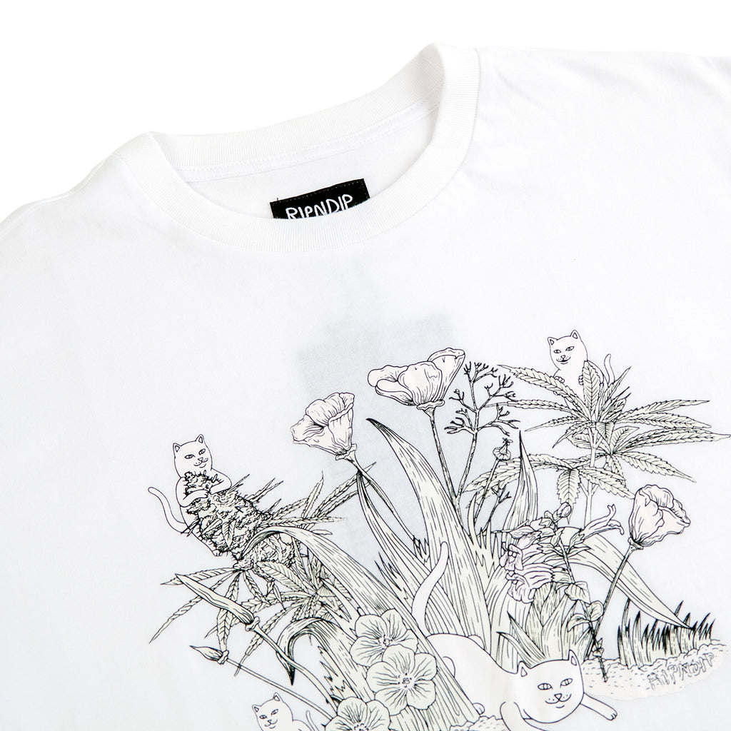 RIPNDIP Nerm Paradise UV Ink T Shirt in White - Detail