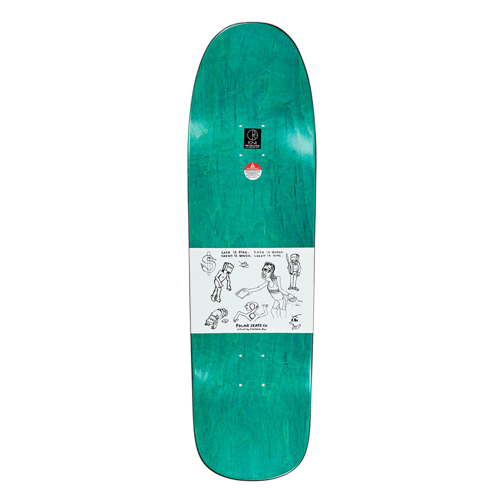 "Polar Skate Co Nick Boserio Cash is Queen 1991 Deck in 9.25"" - Top"
