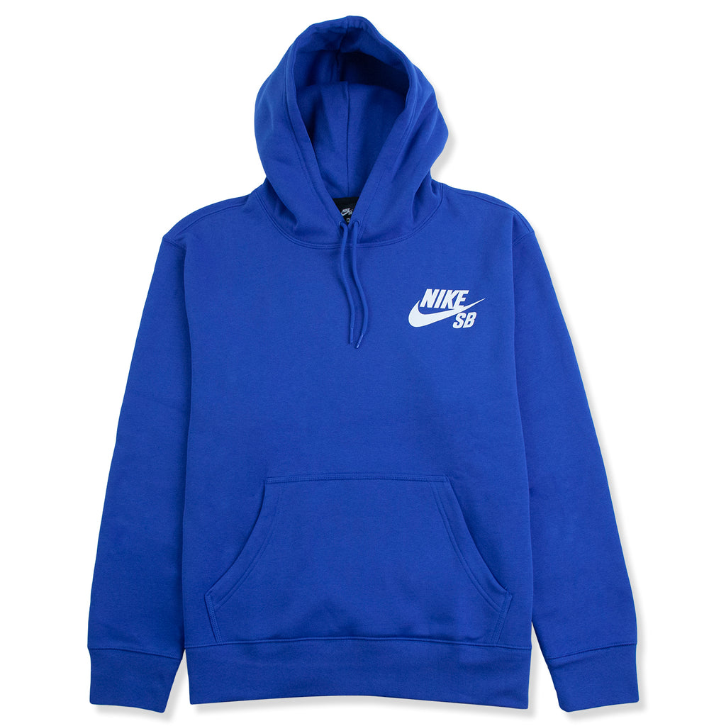Nike SB Icon Hoodie in Game Royal / White