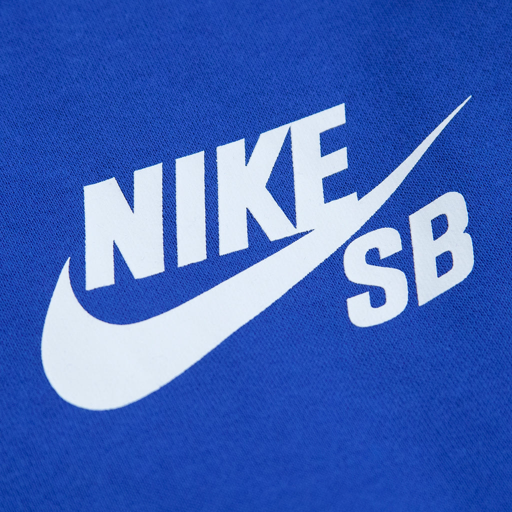 Nike SB Icon Hoodie in Game Royal / White - Print