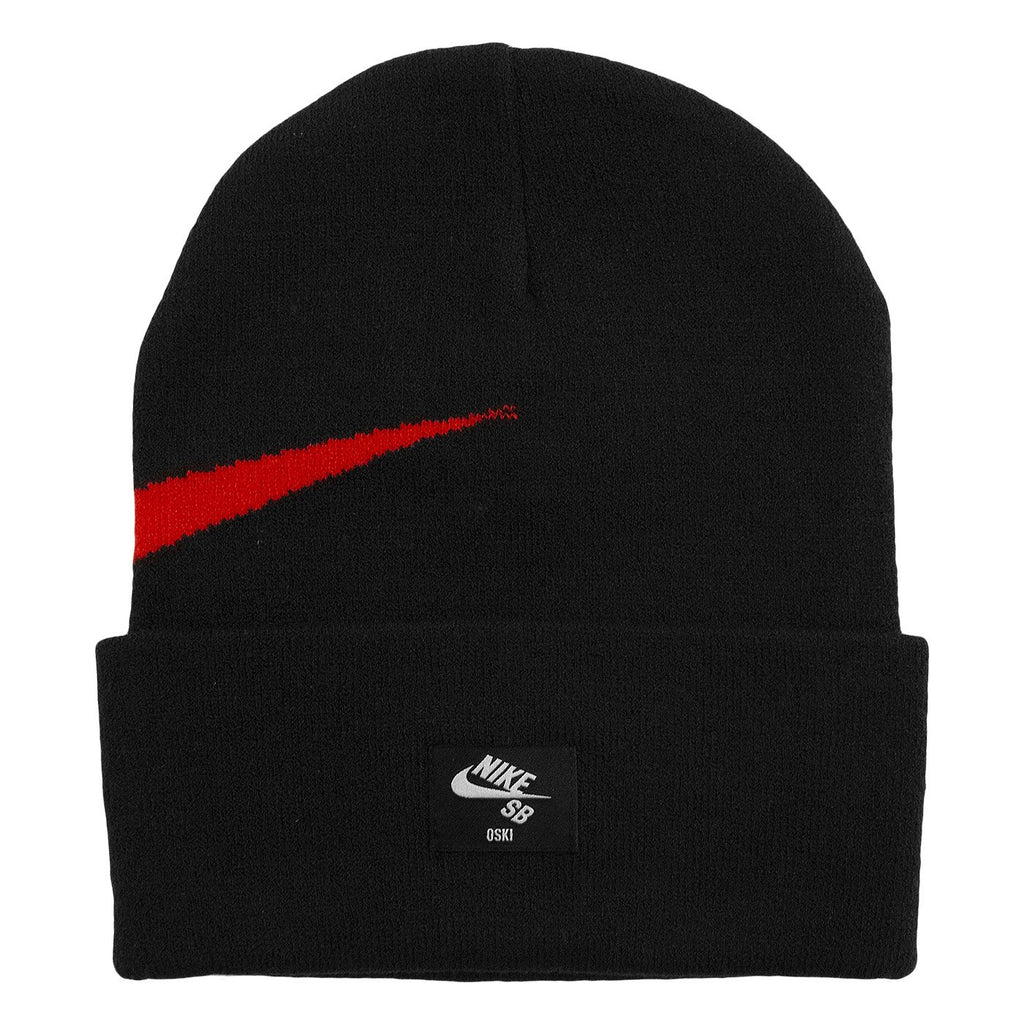 Nike SB Orange Label x Oski Beanie in Black / University Red