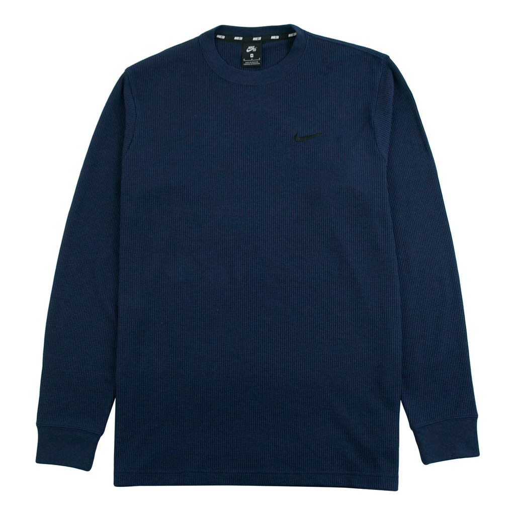 Nike SB Orange Label x Oski L/S Waffle Top in Obsidian / Black