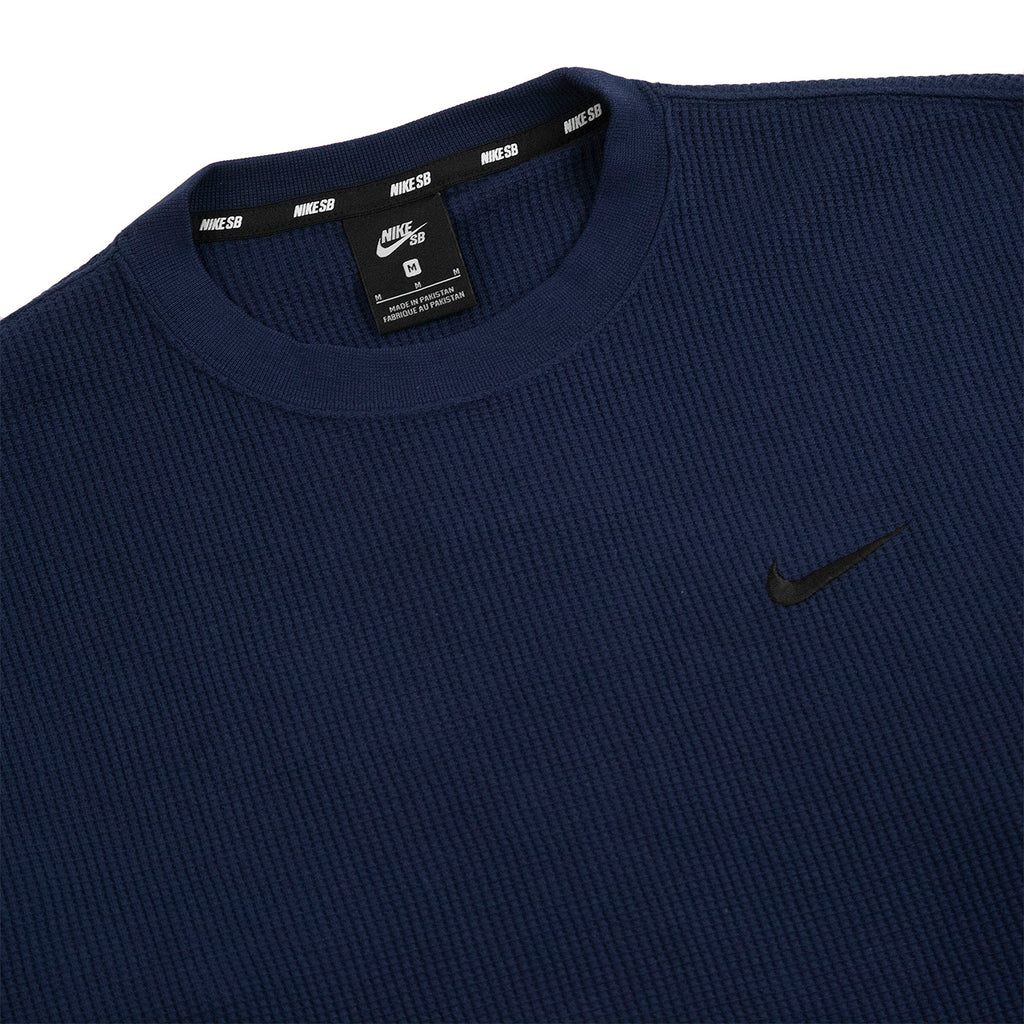 Nike SB Orange Label x Oski L/S Waffle Top in Obsidian / Black - Detail