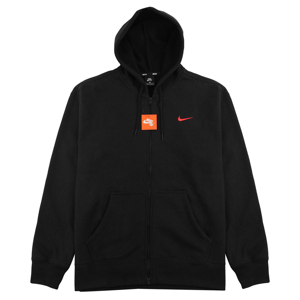 Nike SB Orange Label x Oski Zip Up Hoodie in Black / University Red