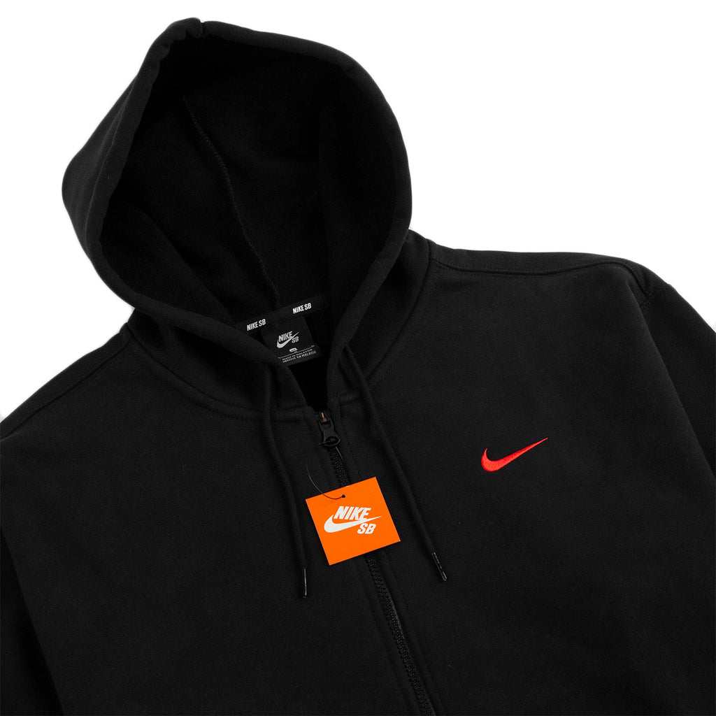 Nike SB Orange Label x Oski Zip Up Hoodie in Black / University Red - Detail