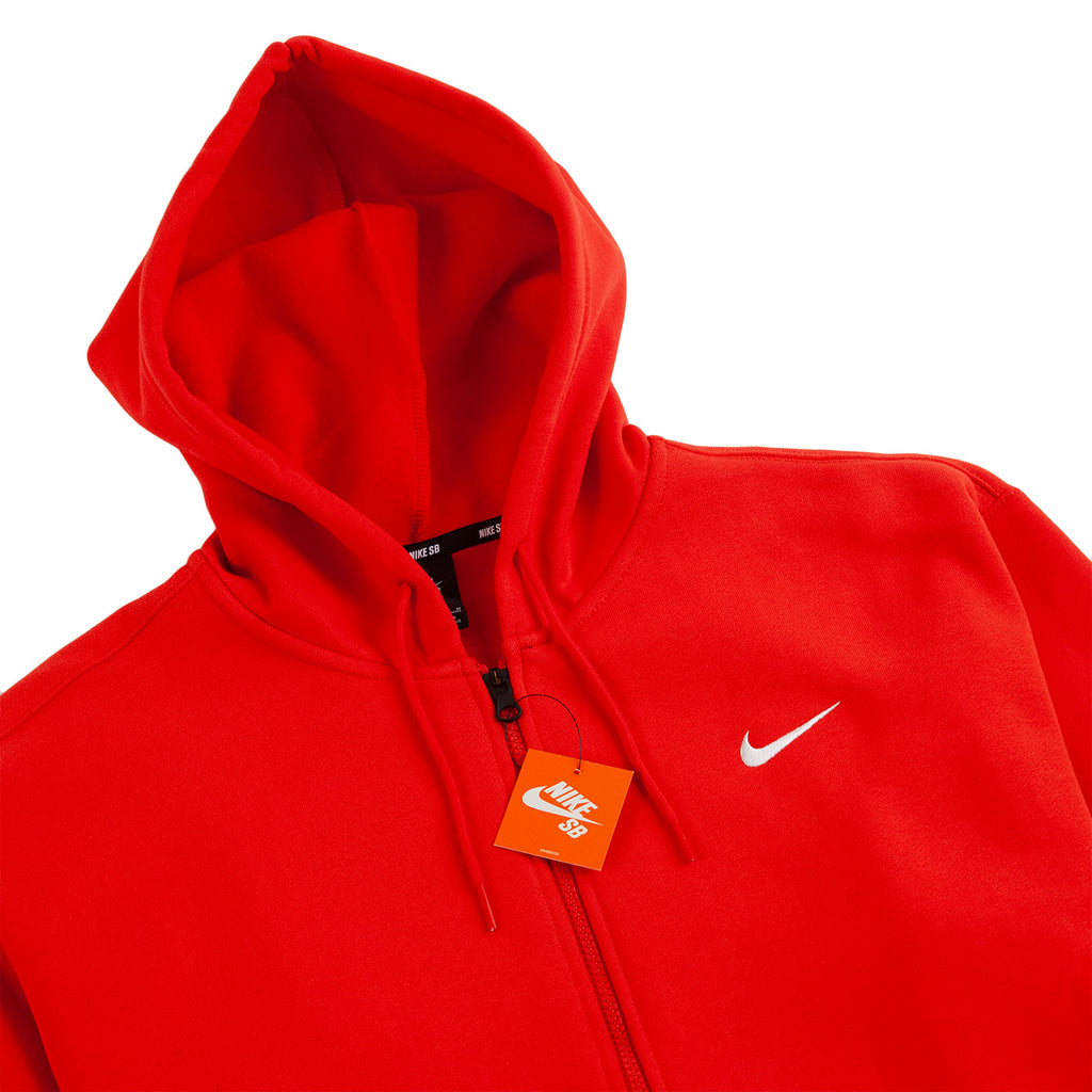 Nike SB Orange Label x Oski Zip Up Hoodie in University Red / Sail - Detail
