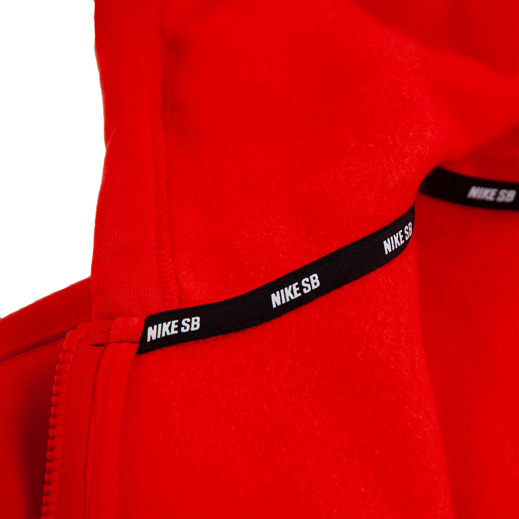 Nike SB Orange Label x Oski Zip Up Hoodie in University Red / Sail - Taping