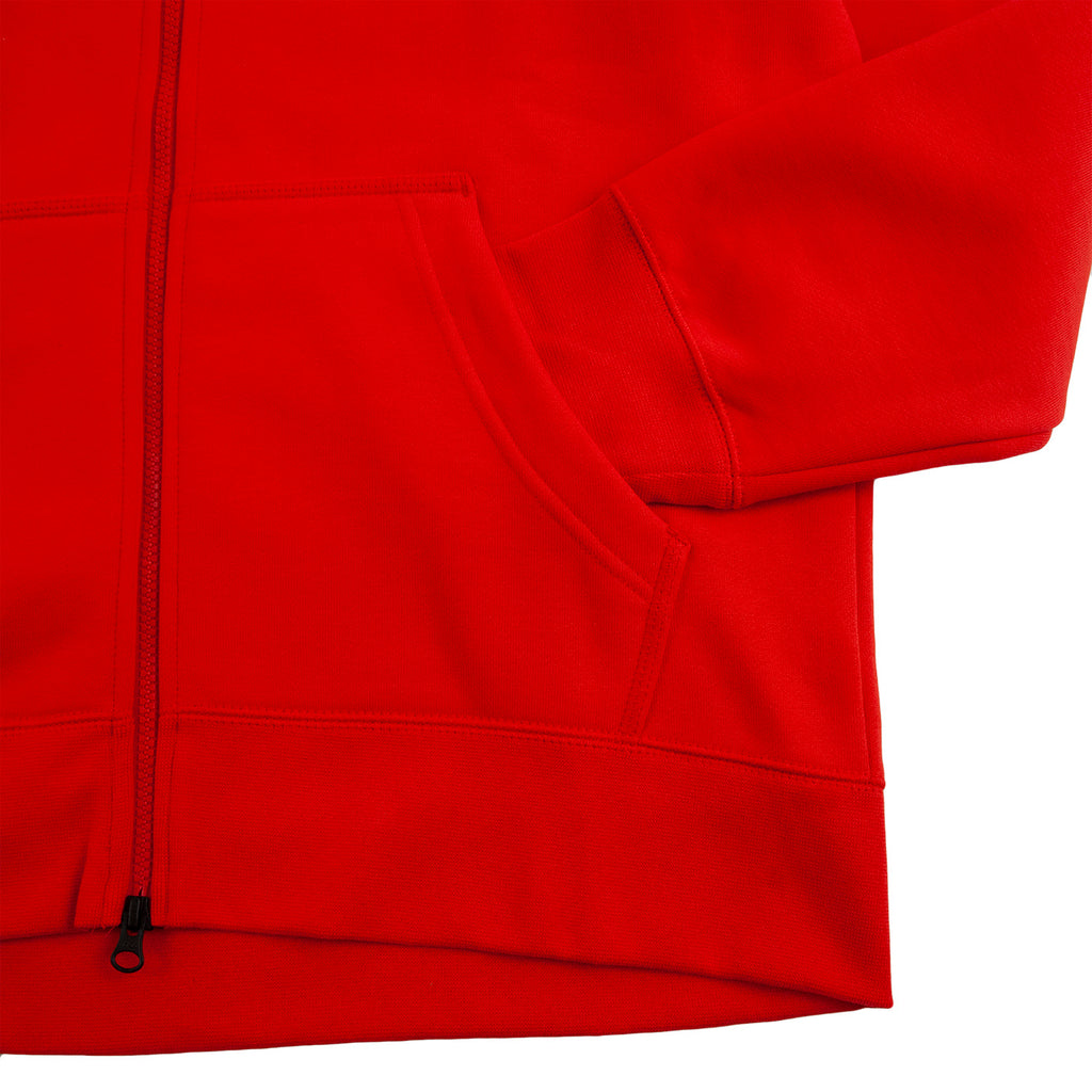 Nike SB Orange Label x Oski Zip Up Hoodie in University Red / Sail - Pocket