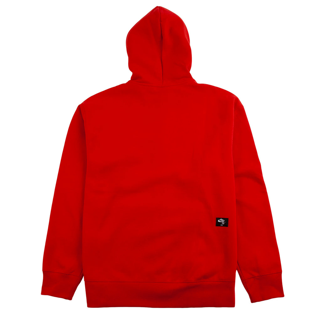 Nike SB Orange Label x Oski Zip Up Hoodie in University Red / Sail - Back