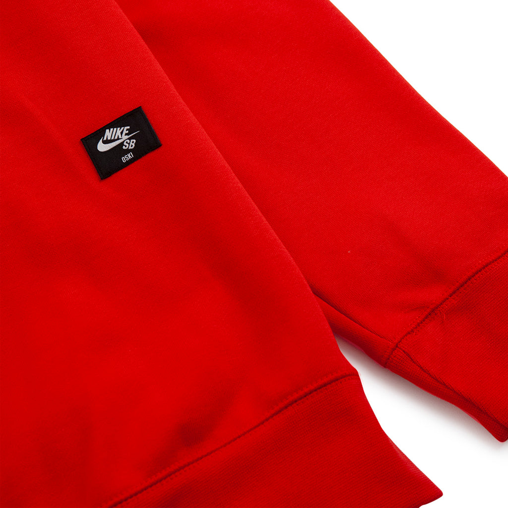 Nike SB Orange Label x Oski Zip Up Hoodie in University Red / Sail - Back Label