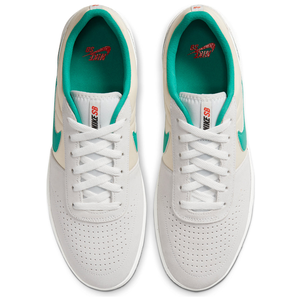 Nike SB Team Classic Shoes in Photon Dust / Neptune Green - Light Cream - Top