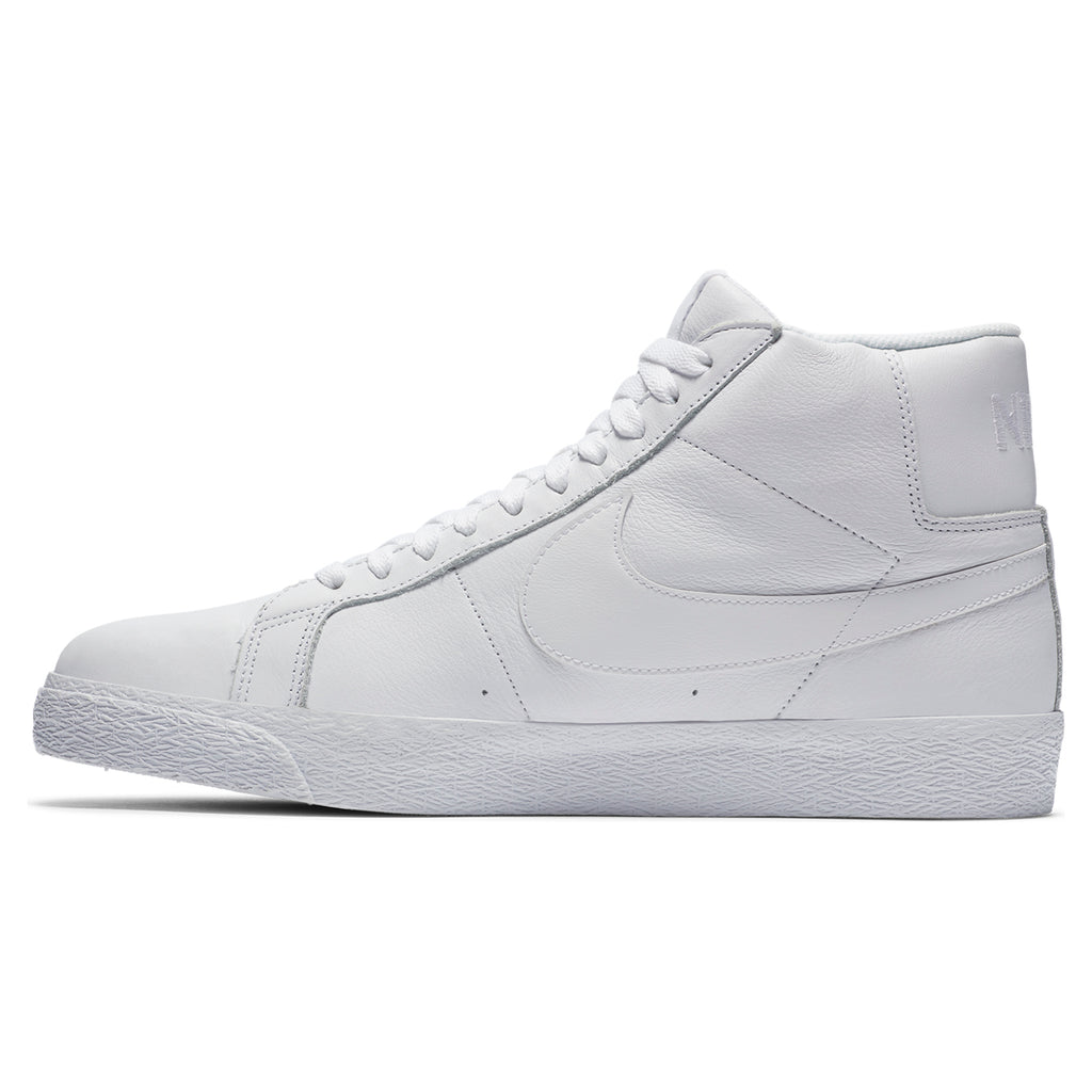 Nike SB Zoom Blazer Mid Shoes - White / White / White