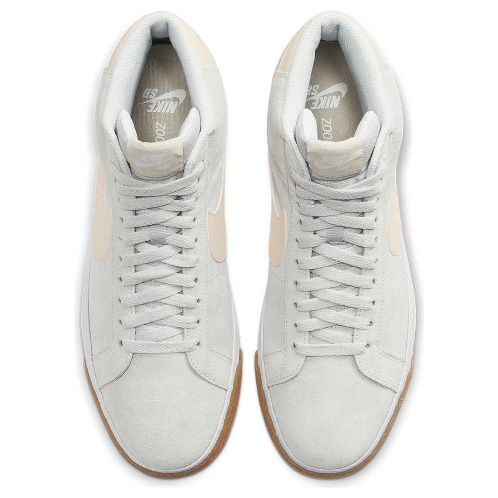 Nike SB Zoom Blazer Mid Shoes in Phonton Dust / Light Cream - White - Top