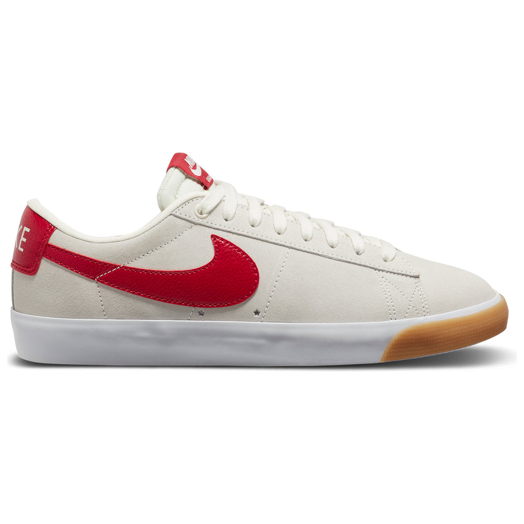 Nike SB Zoom Blazer Low GT Shoes in Sail / Cardinal Red - White