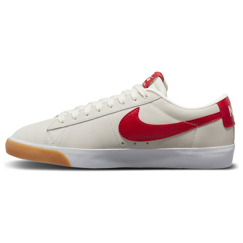 Nike SB Zoom Blazer Low GT Shoes in Sail / Cardinal Red - White - Instep