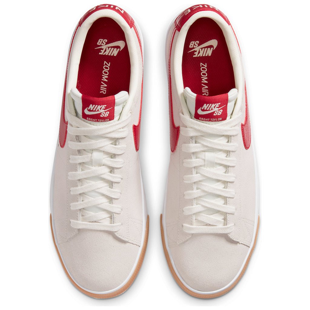 Nike SB Zoom Blazer Low GT Shoes in Sail / Cardinal Red - White - TOP