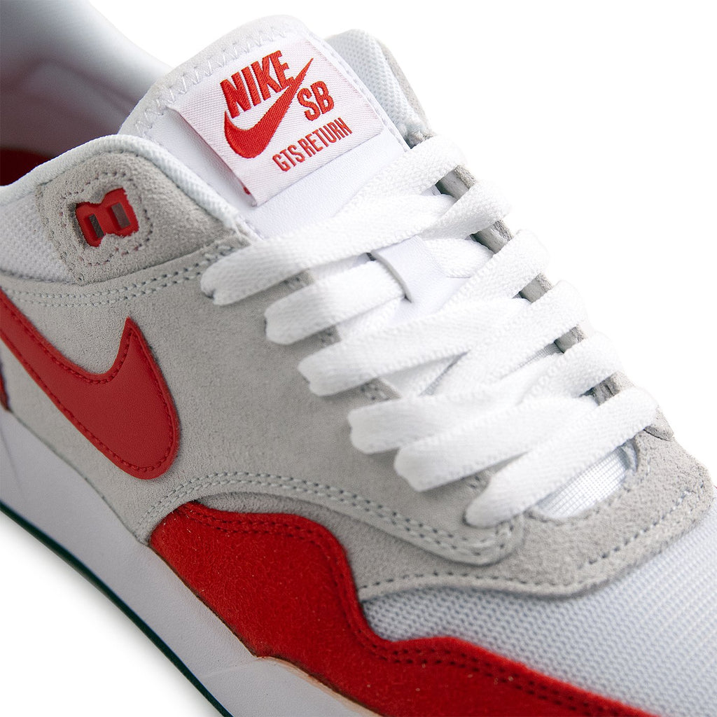 Nike SB GTS Return Premium Shoes in Sport Red / Sport Red - Pure Platinum - Black - Detail