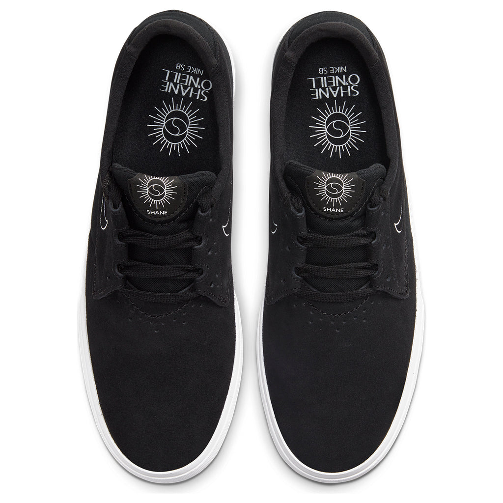 Nike SB Shane Shoes in Black / White - Black - Top