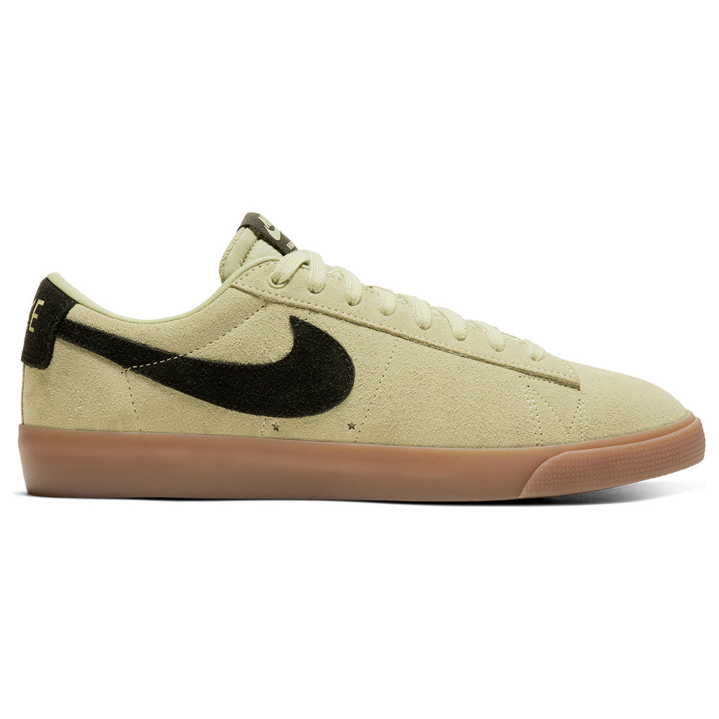 Nike SB Zoom Blazer Low GT Shoes in Olive Aura / Black - Olive Aura