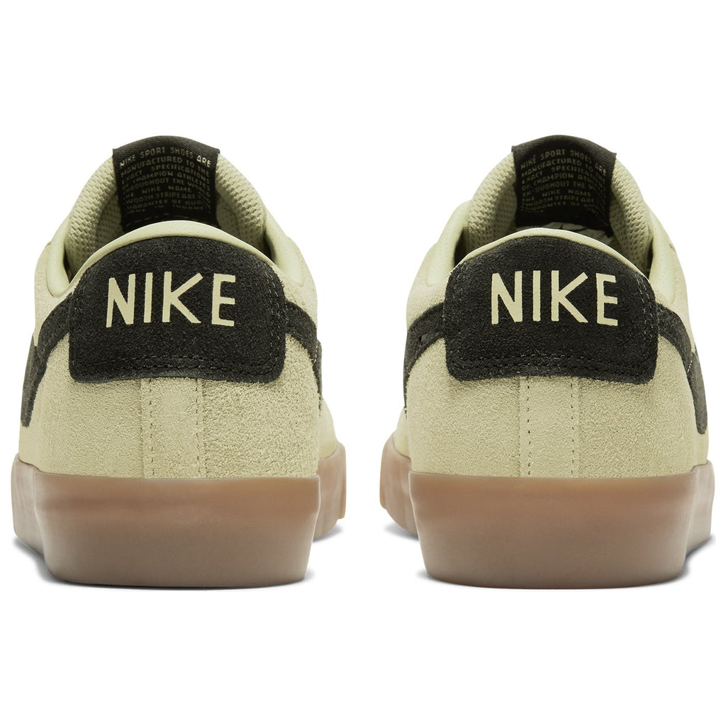 Nike SB Zoom Blazer Low GT Shoes in Olive Aura / Black - Olive Aura - Heel