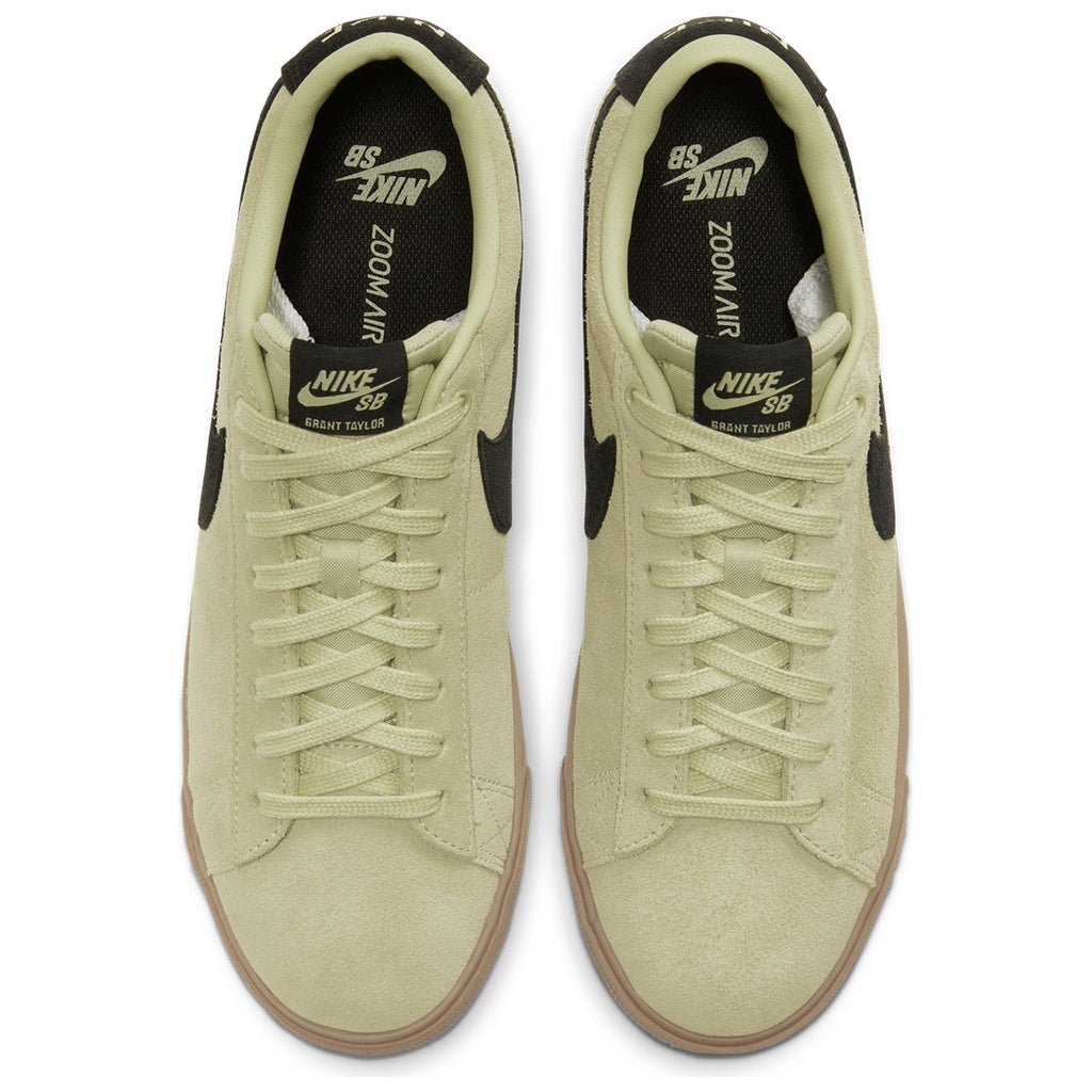 Nike SB Zoom Blazer Low GT Shoes in Olive Aura / Black - Olive Aura - Top