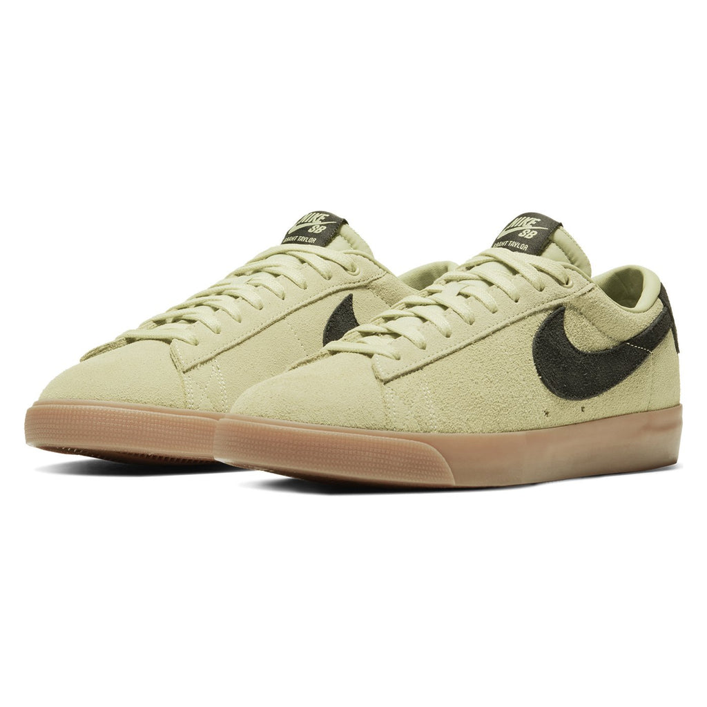 Nike SB Zoom Blazer Low GT Shoes in Olive Aura / Black - Olive Aura - Pair