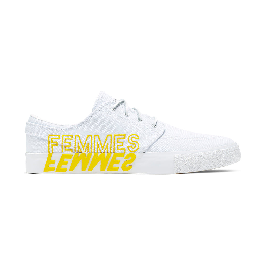 Nike SB Zoom Janoski RM x Violent Femmes Shoes in White / Clear - White - Tour Yellow