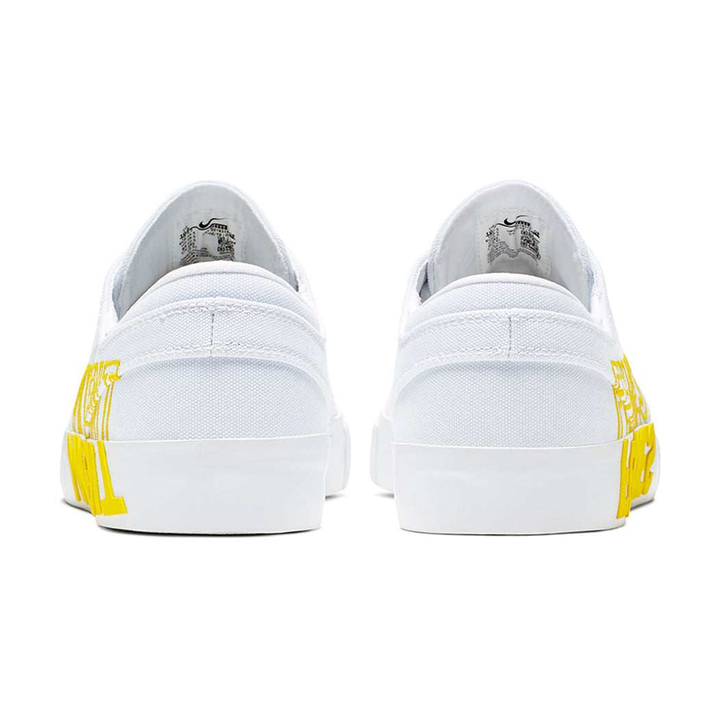 Nike SB Zoom Janoski RM x Violent Femmes Shoes in White / Clear - White - Tour Yellow - Heel