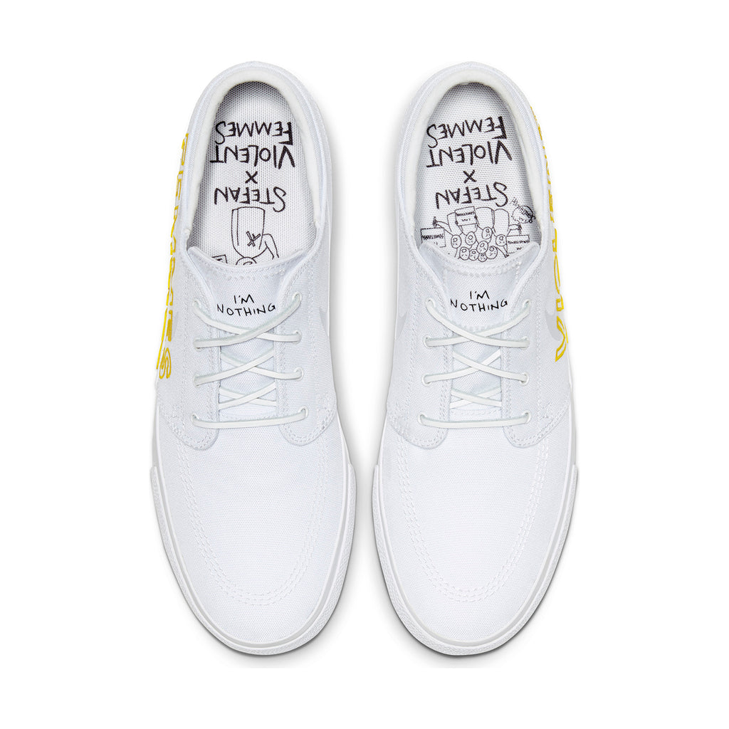 Nike SB Zoom Janoski RM x Violent Femmes Shoes in White / Clear - White - Tour Yellow - Top
