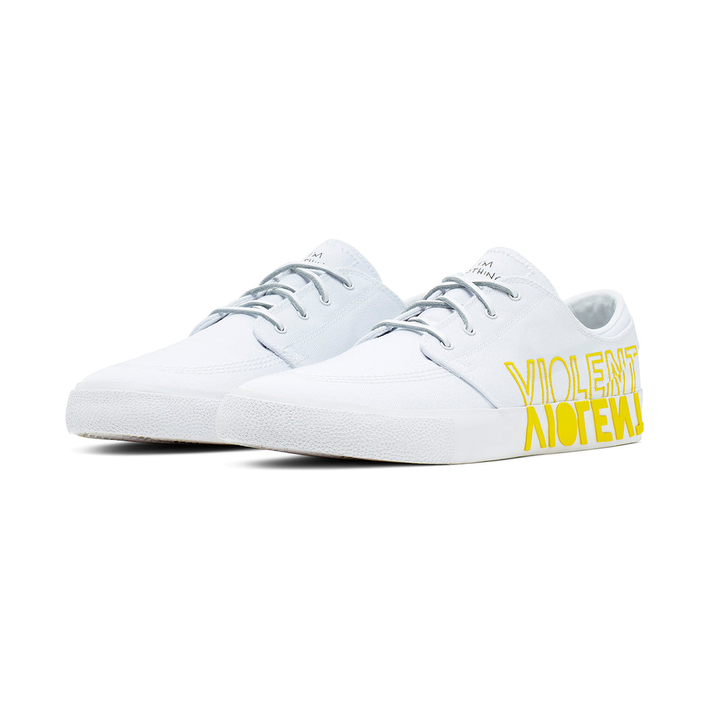 Nike SB Zoom Janoski RM x Violent Femmes Shoes in White / Clear - White - Tour Yellow - Both 2