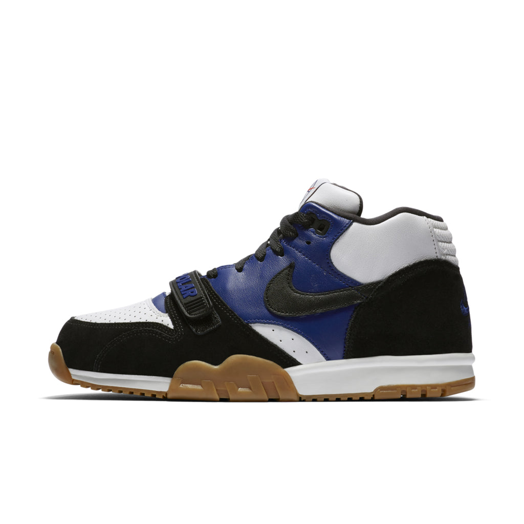 Nike SB x Polar Skate Co Air Trainer 1 Shoes in Black / Black - Deep Royal Blue - Summit White