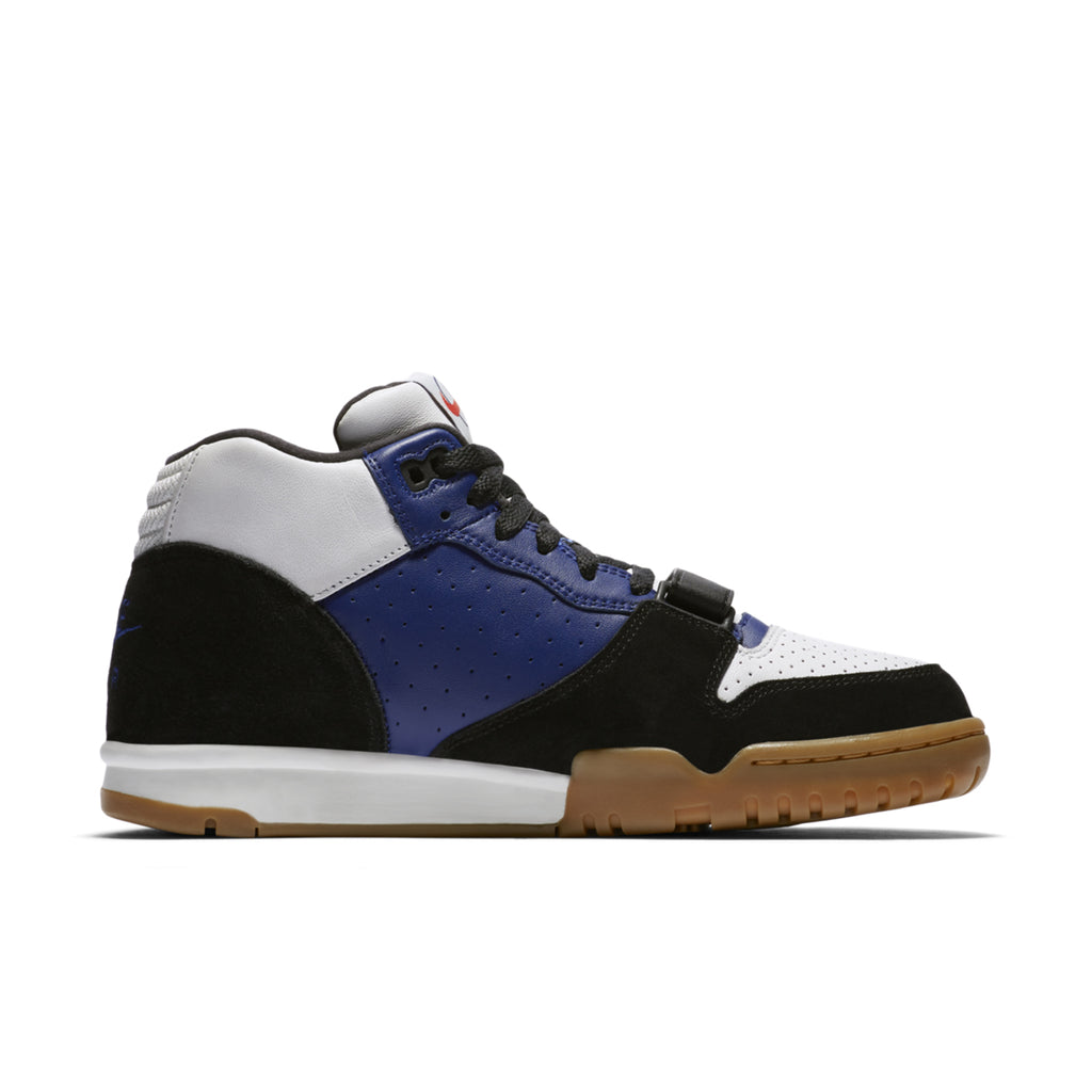 Nike SB x Polar Skate Co Air Trainer 1 Shoes in Black / Black - Deep Royal Blue - Summit White - Inside
